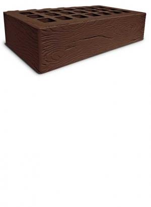 Кирпич коричневый дерево ЖКЗ 1NF