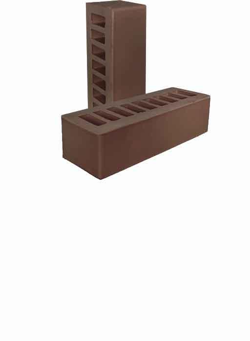 Кирпич керамический 0.7НФ Коричневый  Гладкий