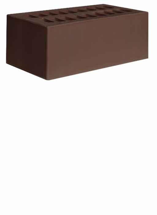 Кирпич керамический 1.4НФ Коричневый Гладкий